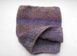 "Hand knitted ""mini"" chal."