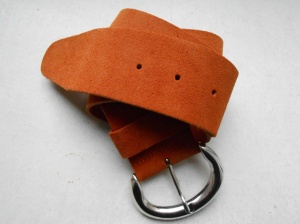 Orange Leather Belt