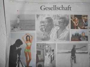 Gesellschaft, article about Veruschka