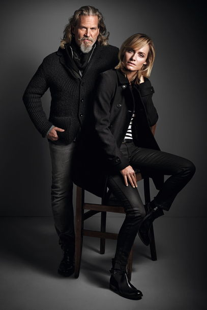 Jeff Bridges (yes, him) and Amber Valetta for Marc O'Polo!!! Love it!