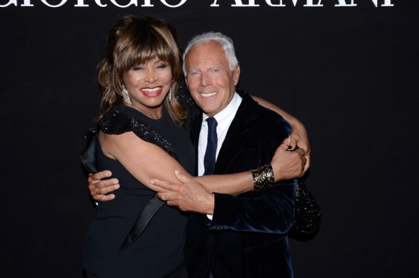Tina Turner & Armani celebrating!!