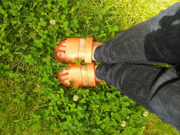 I'm sad because of Kate Bush, but I have my sandals.